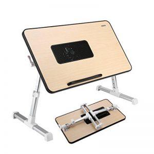 Table de Chevet Pliante avec USB Ventilateur Ordinateur Portable Table de Lit pour Canapé et Bureau de la marque ICOCO image 0 produit