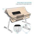 Table de Chevet Pliante avec USB Ventilateur Ordinateur Portable Table de Lit pour Canapé et Bureau de la marque ICOCO image 1 produit