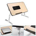 Table de Chevet Pliante avec USB Ventilateur Ordinateur Portable Table de Lit pour Canapé et Bureau de la marque ICOCO image 3 produit