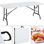 Table de jardin pliable 240 cm blanc Table de camping pliante Terrasse Extérieur de la marque Monzana image 2 produit