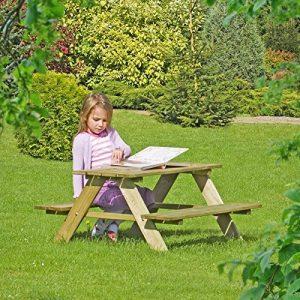 Table de pique-nique pour enfants en bois - Table et bancs intégrés de Gartenpirat® de la marque Gartenpirat image 0 produit