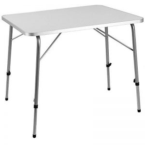 Table Pliante en Alu à hauteur réglable 80x60 cm Camping Jardin Balcon Terrasse de la marque Deuba image 0 produit