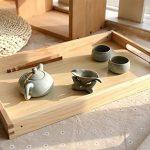 Table pliante en bois Kang Petite tablette carrée Table basse table d'après-midi ( taille : Les petites ) de la marque image 4 produit