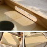 Table pliante en bois Kang Petite tablette carrée Table basse table d'après-midi ( taille : Les petites ) de la marque image 3 produit
