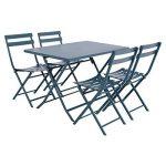 Table pliante rectangulaire Greensboro - 4 Places - Bleu orage de la marque Hespéride image 3 produit