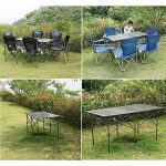 Table pliante Table De Camping Pliante En Alliage D'aluminium Table De Camping 140cm Table De Jardin Table De Voyage Pliante Table De Camping de la marque BJL Table image 4 produit