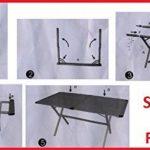 Table Store Genius 150x 80cm en aluminium + 4fauteuil metteur en scène pliant en aluminium avec textilène gris–Idéal pour patio caravane et camping de la marque Beaver Brand image 3 produit