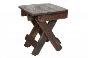 Table/Tabouret en bois (30x30x30 cm), ciré et huilé, Thai Design de la marque Handelsturm image 0 produit