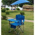 Tables pliantes extérieures et chaises/chaise de plage parapluie/chaise de pêche/tables et chaises portables occasionnels (Couleur : Bleu) de la marque Folding chair image 2 produit