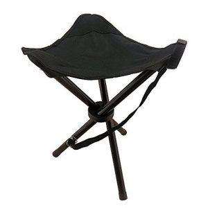 Tabouret de camping pliant–Tabouret à trépied pour la pêche, le camping, et les loisirs de plein air, Noir de la marque KOLPCTT image 0 produit