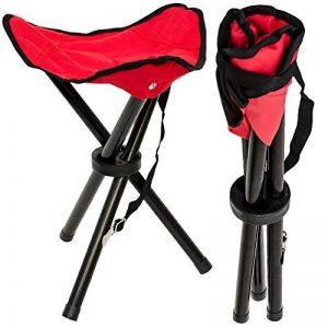 Tabouret Pliant pour camping pêche randonnée pique-nique Siege trépied facile à transporter Rouge de la marque Eyepower image 0 produit