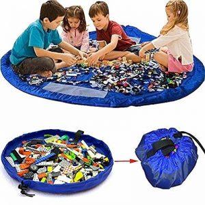 Tapis de jouets, KING DO WAY Sacs de Rangement de Jouets Tapis de Jeu Organisateur Rapide Grande Capacité Portable pour Bébé Enfants (150CM) de la marque KING DO WAY image 0 produit