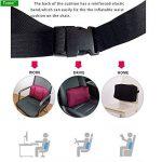 Tcare 1Pcs Coussin gonflable portatif de soutien lombaire/oreiller de massage pour le camping de voiture de bureau de voyage au soulagement de douleur de dos de Wais de la marque Tcare image 4 produit