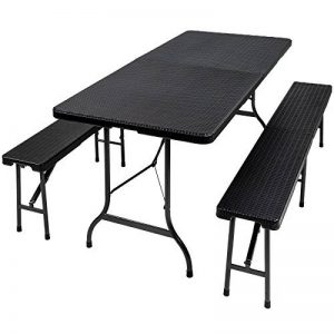 TecTake Banc de table de salle à manger, tréteau pliable et ensemble de meubles de camping, différentes couleurs de la marque TecTake image 0 produit
