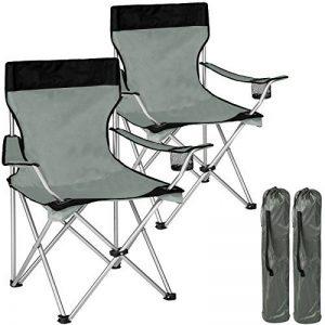TecTake Chaise de Camping Fauteuil Pliable avec Porte-Boisson et Sac de Transport - diverses couleurs et quantités au choix - de la marque TecTake image 0 produit