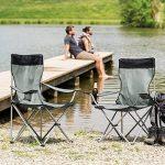 TecTake Chaise de Camping Fauteuil Pliable avec Porte-Boisson et Sac de Transport - diverses couleurs et quantités au choix - de la marque TecTake image 1 produit