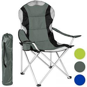 TecTake Chaise de Camping Fauteuil Pliable avec Porte-boisson et Sac de Transport - Rembourrage en Mousse -diverses couleurs et tailles au choix- de la marque TecTake image 0 produit