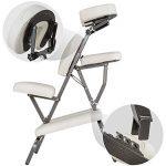 TecTake Chaise de Massage avec Sac de Transport - diverses couleurs au choix - (Blanc) de la marque TecTake image 4 produit