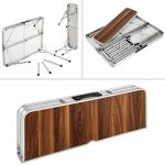 TecTake Ensemble table pliante valise avec 2 bancs portable aluminium | dimensions replié (LxlxH) 91x10x34 cm de la marque TecTake image 4 produit