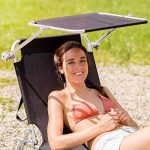 TecTake Lot de 2 chaise longue bain de soleil en aluminium pliable avec parasol pare soleil - diverses couleurs au choix - (Noir | no. 401549) de la marque TecTake image 3 produit