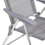 TecTake Lot de 4 aluminium chaises de jardin pliante avec accoudoir gris de la marque TecTake image 4 produit