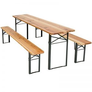 TecTake Meuble de jardin de fête table et bancs bois terasse brasserie pliable bar -diverses modèles- (Type 1 | no. 400871) de la marque TecTake image 0 produit