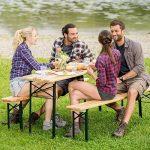 TecTake Meuble de jardin de fête table et bancs bois terasse brasserie pliable bar -diverses modèles- (Type 1 | no. 400871) de la marque TecTake image 1 produit