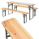 TecTake Meuble de jardin de fête table et bancs bois terasse brasserie pliable bar -diverses modèles- (Type 1 | no. 400871) de la marque TecTake image 3 produit