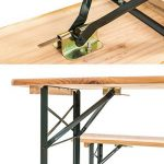TecTake Meuble de jardin de fête table et bancs bois terasse brasserie pliable bar -diverses modèles- (Type 1 | no. 400871) de la marque TecTake image 4 produit