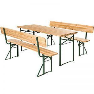 TecTake Meuble de jardin de fête table et bancs bois terasse brasserie pliable bar -diverses modèles- (Type 4 | no. 402503) de la marque TecTake image 0 produit