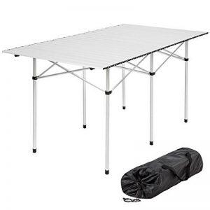 TecTake Table de camping pliable pliante en aluminium portable XXL 140x70x70cm + sac de transport de la marque image 0 produit