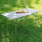 TecTake Table de camping pliable pliante en aluminium portable XXL 140x70x70cm + sac de transport de la marque image 1 produit