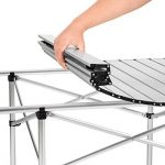 TecTake Table de camping pliable pliante en aluminium portable XXL 140x70x70cm + sac de transport de la marque image 3 produit