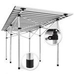 TecTake Table de camping pliable pliante en aluminium portable XXL 140x70x70cm + sac de transport de la marque image 4 produit