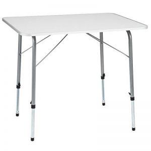 TecTake Table de camping pliable réglable en hauteur (LxlxH): env. 80 x 60 x 68 cm de la marque TecTake image 0 produit