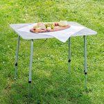 TecTake Table de camping pliable réglable en hauteur (LxlxH): env. 80 x 60 x 68 cm de la marque TecTake image 1 produit
