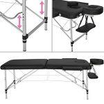 TecTake Table de Massage Pliante Aluminium Cosmetique Lit de Massage Portable + Housse de Transport - diverses couleurs au choix - (Noir | No. 402786) de la marque TecTake image 1 produit