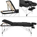 TecTake Table de massage pliante aluminium cosmetique lit de massage portable noir + housse de transport de la marque TecTake image 1 produit