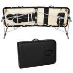 TecTake Table de massage pliante aluminium cosmetique lit de massage portable noir + housse de transport de la marque TecTake image 3 produit