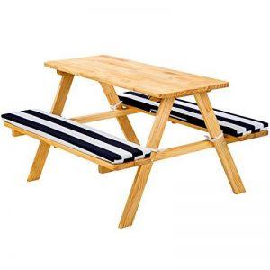TecTake Table de pique-nique avec coussins meubles enfants bois - diverses couleurs au choix - de la marque TecTake image 0 produit