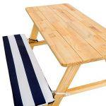 TecTake Table de pique-nique avec coussins meubles enfants bois - diverses couleurs au choix - de la marque TecTake image 3 produit