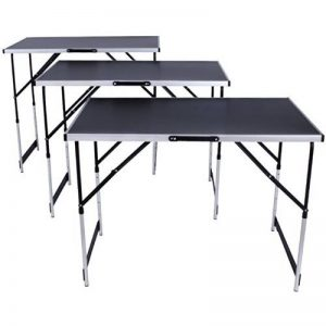 TecTake Table de travail pliante en aluminium pour papier peint, 300x 60cm, table de caravane, camping, pique-nique de la marque TecTake image 0 produit