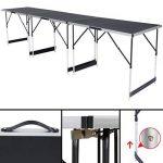 TecTake Table de travail pliante en aluminium pour papier peint, 300x 60cm, table de caravane, camping, pique-nique de la marque TecTake image 3 produit