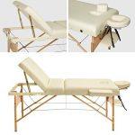 TecTake Table Lit de Massage Pliante Portable - diverses couleurs au choix (Beige) de la marque TecTake image 2 produit