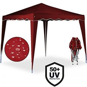 Tente pliante 3x3 m Tonnelle pavillon jardin pliable rouge + Sac de transport de la marque Deuba image 0 produit