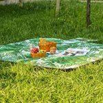 theBlueStone 170x 140cm Couverture de pique-nique Dos de voyage étanche Tapis de pique-nique Tapis pour l'extérieur, plage, camping de la marque theBlueStone image 3 produit