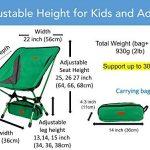 Trekology Portable Compact Chaise de camping avec hauteur réglable–ultraléger backpacking Chaise dans un sac pour le camping, la pêche, pique-nique, terrasse, Sports, événements, de la marque Trekology image 4 produit
