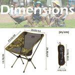 Triwonder randonnée de camping pliable Chaises Chaise de camping Quad – Trois types de six Couleurs de la marque TRIWONDER image 1 produit