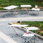 TRIWONDER Ultralight Aluminium Pliant Table de Camping Pliable Portable Roll-Up pour Extérieur, Camping, Pique-Nique, Barbecue, Plage, Pêche de la marque TRIWONDER image 6 produit