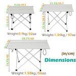 TRIWONDER Ultralight Aluminium Pliant Table de Camping Pliable Portable Roll-Up pour Extérieur, Camping, Pique-Nique, Barbecue, Plage, Pêche de la marque TRIWONDER image 1 produit